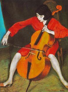 peira:    Róbert Berény: Woman Playing Cello (1928)