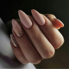 Looking for the best nude nail designs? Here is my list of best nude nails for your inspiration. Check out these perfect nude acrylic nails! Manicure Nail Designs, Nail Manicure, Almond Nails Designs, Pedicure, Prom Nails, My Nails, Matte Nails, Pointy Nails, Ongles Beiges