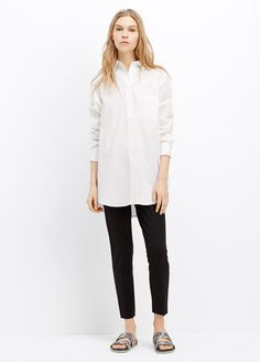Long Sleeve Button Up Tunic   Vince