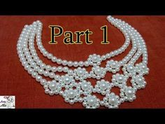 How to Make Pearl Beaded Necklace at Home Beaded Necklace Patterns, Jewelry Patterns, Beading Patterns, Bridal Jewelry, Beaded Jewelry, Diy Jewellery, Handmade Jewelry, Bridal Necklace, Vintage Jewelry