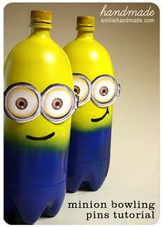 Kids DIY Despicable Me crafts...Love the minions!