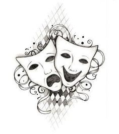 Loves this for a redo of my current comedy/ tragedy tattoo