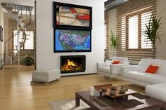tv in picture frame with art - Google Search