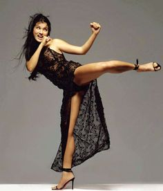 Kelly Hu has been involved in martial arts since she was a little girl. http://hubpages.com/sports/Beautiful-But-Deadly-3-TV-and-Movie-Actresses-Who-Could-Hurt-You