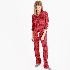 "Because winter nights pretty much require cozy flannel pajama sets. Ours have an easy, comfy fit (plus cute patterns like this festive tartan) that makes them the perfect holiday gift. <ul><li>Top hits at hip; bottom hits at ankle.</li><li>32 1/2"" inseam.</li><li>Cotton.</li><li>Long sleeves.</li><li>Elastic waistband with drawstring on pant.</li><li>Machine wash.</li><li>Import.</li></ul>"