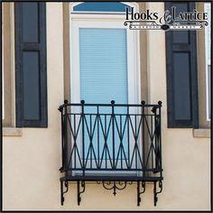 Westwood Decorative Iron Balcony from Hooks and Lattice