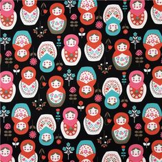 Matryoshka doll fabric