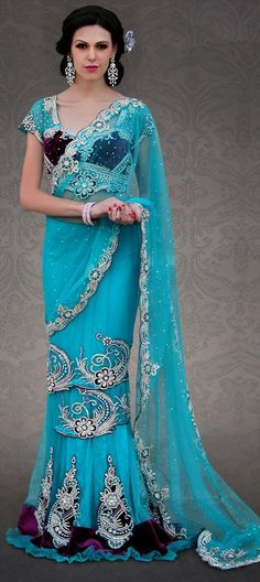 109052: NEW DRAPE: Shop Lehenga-saree in 60's draping style.