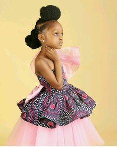 The most beautiful collection of fabulous ankara styles for women, latest fabulous ankara here Ankara Styles For Kids, African Dresses For Kids, African Babies, African Children, African Girl, African Print Dresses, African Print Fashion, African Fashion Dresses, Ankara Fashion