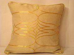 Gold scintillation  Decor romantic pillow cushion cover by SABDECO, €27.00