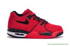 venda de tenis online Masculino Nike Air Flight 89 Vermelho/Preto Leather 306252-600
