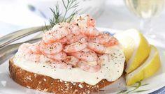 Tips til vellykket rekelag i sommer Panna Cotta, Shrimp, Seafood, Sandwiches, Breakfast, Ethnic Recipes, Happy, Recipes, Sea Food