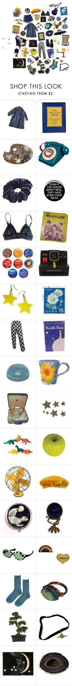 """""""starry night"""" by peachysara ❤ liked on Polyvore featuring Dries Van Noten, Wild Pair, La Perla, Polaroid, Comme des Garçons, Jayson Home, RCA, C.R.A.F.T., Etiquette and Emerson"""