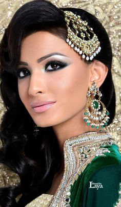 ♔LAYA♔INDIAN BRIDE♔ Indian Bridal Makeup, Asian Bridal, Bridal Hair And Makeup, Oriental Fashion, Indian Fashion, Indian Dresses, Indian Outfits, Bollywood Jewelry, Braut Make-up