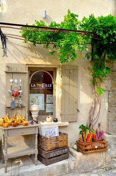 Gift shop in Les Baux de Provence - Provence, France Provence France, Displays, Shop Fronts, Lovely Shop, Shop Around, French Countryside, South Of France, France Travel, Boutiques