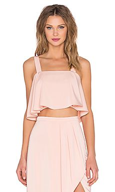X REVOLVE BOUFFANT CROP TOP
