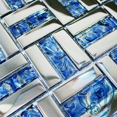 Mar de mosaico de vidrio azul 11SF / lot baldosas backsplash de la cocina…