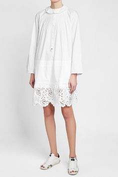 Zadig & Voltaire Cotton Dress with Broderie Anglaise Zadig And Voltaire, Vintage Bohemian, White Style, Cotton Dresses, Cover Up, White Dress, Tunic Tops, Shopping, Women