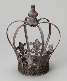 Look what I found on #zulily! 10'' Metal Crown #zulilyfinds