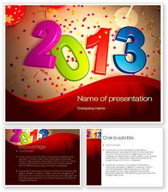 2013 and Confetti  PowerPoint template with 2013 and Confetti  PowerPoint background for presentations is ready for download. Buy this PowerPoint template and be the first with  great presentation dedicated on New Year celebration, plans for New Year, winter holidays, New Year party, annual results, reports, etc. http://www.poweredtemplate.com/10461/0/index.html