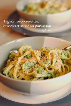 My Wonderwall by Marie: A man in my kitchen #2 : taglioni aux crevettes, brocolis et sauce au parmesan