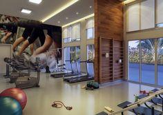 Maquete Eletrônica 3D do fitness desenvolvido para o empreendimento Majestic 2