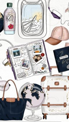 19 Trendy travel design layout vacation scrapbook in 2020 Wallpapers Tumblr, Cute Wallpapers, Wallpaper Wallpapers, Screen Wallpaper, Travel Wallpaper, Photo Wallpaper, Peach Wallpaper, Vacation Scrapbook, Travel Drawing