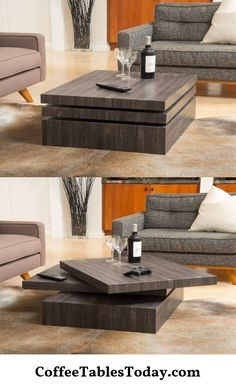 Modern Living Room Table Sets 50 Modern Coffee Tables to Add Zing to Your Living Modern Square Coffee Table, Contemporary Coffee Table, Coffee Table Design, Coffe Table, Contemporary Design, Modern Wood Furniture, Wood Furniture Living Room, Furniture Design, Centre Table Living Room