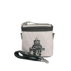 Small Cooler Bag grey robot