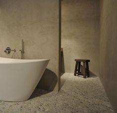 Matte betonstuc in badkamer | Interieur inrichting