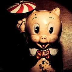 Porky Pig antique toy. Image by Susa Mac