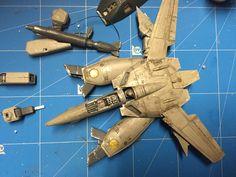 Robotech Macross / Valkyrie VF-1S model - step 02