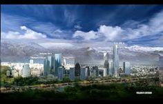 Resultado de imagen para sanhattan santiago de chile New York Skyline, Travel, Santiago, Voyage, Viajes, Traveling, Trips, Tourism