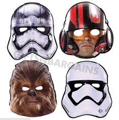 Use paper character masks of your guests' favorite characters from Star Wars: Episode VII, The Force Awakens to get your party guests in the right mood. You're their only hope. Star Wars Vii, Star Wars Games, Star Wars Birthday, Star Wars Party, Halloween Costumes For Kids, Adult Costumes, Halloween Ideas, Happy Halloween, Masque Star Wars