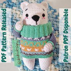 """♡Poly♡ en Instagram: """"(ENG⬇️) El patrón de Mark, el oso polar, ya está disponible en mi tienda (link en bio) Quiero agradecer a mis encantadoras testers…"""" Polaroid, Amigurumi Doll, Dolls, Children, Link, Instagram, Polar Bear, Store, Budget"""