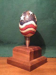 Hand Carved Handmade Wooden Egg Bottle Stopper  $30.00, via Etsy.