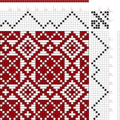 draft image: Threading Draft from Divisional Profile, Tieup: Master Weaver, Draft #61297, 8S, 8T