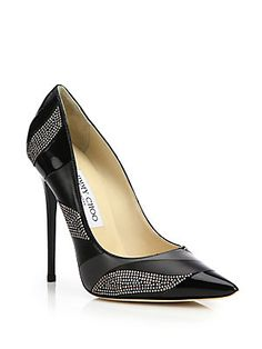 Jimmy Choo Anouk Studded Patchwork Leather Pumps