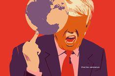 @Ivan Canu salzmanart.com client: die Zeit: Fuck the planet 3 (Trump's series) #editorial #trump #politics #planet #magazine #earth