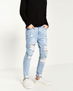 74+ Best Ideas about Stylish and Trendy Ripped Jeans Outfit for Men http://www.about-ruth.com/74-best-ideas-about-stylish-and-trendy-ripped-jeans-outfit-for-men/ Ripped Jeans are all about mixing casual style with some formal wear and creating a very classy look. Ripped jeans are not just trendy but help soften...