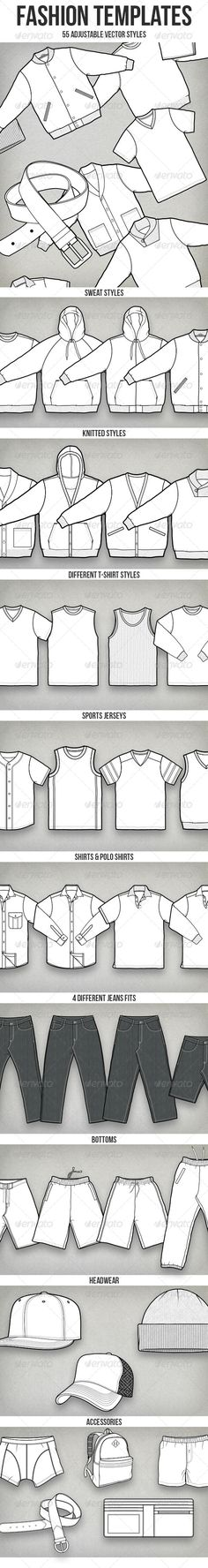 50+ Vector Fashion Templates  #GraphicRiver