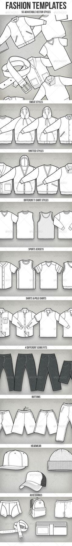 50+ Vector Fashion Templates #GraphicRiver