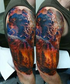 Beautiful forest fire