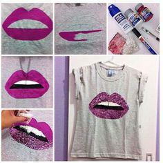 Ideas Diy Ropa Reciclada Camisetas For 2019 Fashion Wear, Diy Fashion, Fashion Clothes, Diy Camisa, Diy Vetement, Painted Clothes, Diy Couture, Clothing Hacks, T Shirt Diy