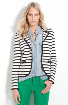 Juicy Couture Striped Blazer. Wonderful outfit.