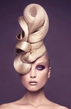 Best Huge Avant Garde Hair Styles That Are Absolutely Sensational – ZygoStyle 2015 Hairstyles, Creative Hairstyles, Cool Hairstyles, Avant Garde Hairstyles, Fantasy Hairstyles, Fashion Hairstyles, Crazy Hair, Big Hair, Twisted Hair