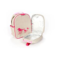 Pink Birds Back to School  Backpack via @Soyoung Francis  #preschool #backtoschool #backpack #kids #girl