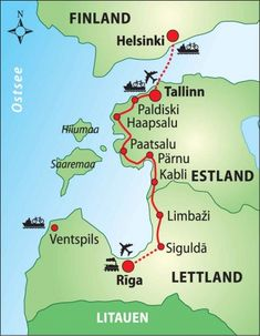 Radtour von Riga bis Tallinn (Lettland - Estland) - individuell, 9 Tage