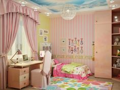 interior of room for a little girl