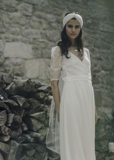 """Verne"" by Laure de Sagazan   Article: Boho-Chic Ensembles from Laure de Sagazan 2017 Collection   Photography: Laurent Nivalle   Read More:  http://www.insideweddings.com/news/fashion/boho-chic-ensembles-from-laure-de-sagazan-2017-collection/3727/"